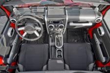 Interior Trim Accent Kit, Brushed Silver : 07-10 Jeep Wrangler JK