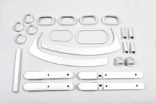 Interior Trim Kit, Brushed Silver : 07-10 Jeep Wrangler JKU