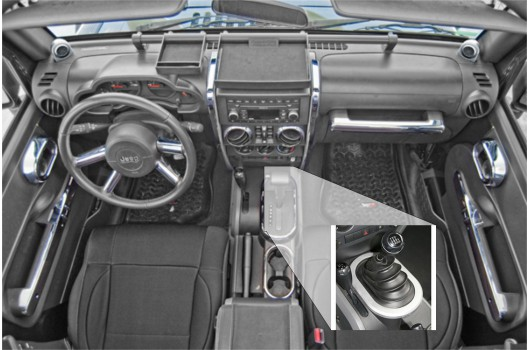Interior Trim Accent Kit, Chrome : 07-10 Jeep Wrangler JK