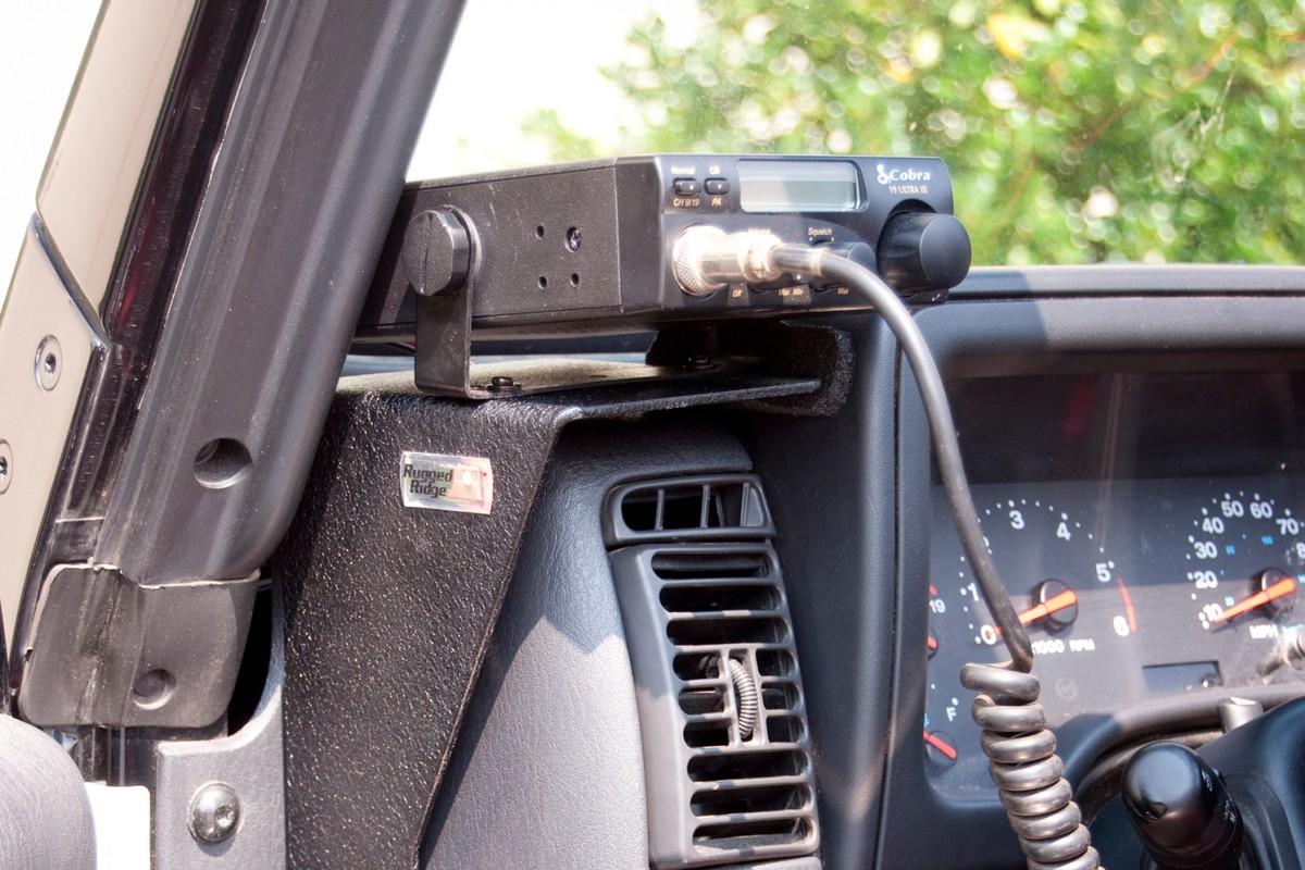radio dash mount bracket kit cb 97 06 jeep wrangler tj. Black Bedroom Furniture Sets. Home Design Ideas