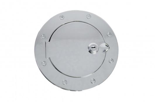 Locking Gas Cap Door, Stainless Steel : 07-17 Jeep Wrangler JK