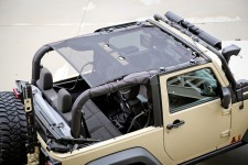 Eclipse Sun Shade, Black, 2 Door : 07-17 Jeep Wrangler JK
