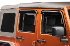 Window Rain Deflectors, 07-16 Jeep Wrangler Unlimited JK