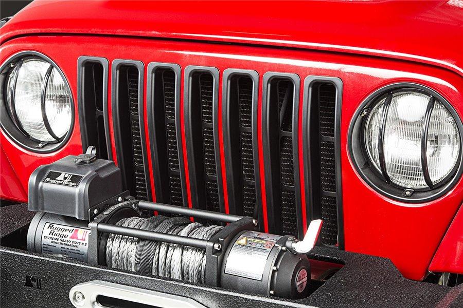 Nakładki na grill, Czarny, 97-06 Jeep Wrangler