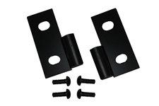 Lower Door Hinge Brackets, Black, 76-06 Jeep CJ/Wrangler YJ/TJ