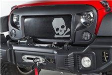 Spartan Grille Insert, Skull : 07-18 Jeep Wrangler JK