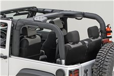 Roll Bar Cover, Black Vinyl, 07-16 Jeep Wrangler JK