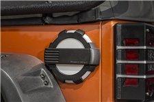 Elite Fuel Door, Non-Lock, Brushed Alum. 07-17Jeep Wranlger JK
