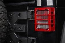 Elite Tail Light Guards, Red, 07-17 Jeep Wrangler JK