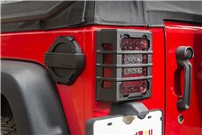 Elite Tail Light Guards, textured black, 07-17 Jeep Wrangler JK