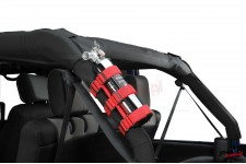 Sport Bar Fire Extinguisher Holder, Red, 55-16 CJ/Wrangler YJ/TJ/JK