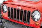 Grille Inserts, Black, 07-16 Jeep Wrangler JK