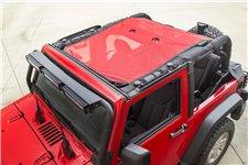 Eclipse Sun Shade, Red : 07-18 Jeep Wrangler JK, 2 Door