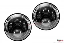 BLADE HL - LED Headlight with half HALO ring, 7 inch, pair