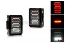 Lampy tylne LED, model DIAMOND : wersja europejska, Jeep Wrangler JK 2007+