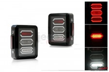 Lampy tylne LED, model DIAMOND | wersja europejska, Jeep Wrangler JK 2007+