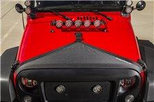 Hood Bra, Black : 07-18 Jeep Wrangler JK/JKU