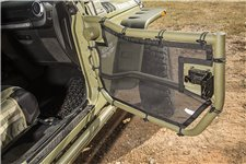 Tube Door Cover Kit, Front, Pair, Black : 07-18 Jeep Wrangler JK/JKU