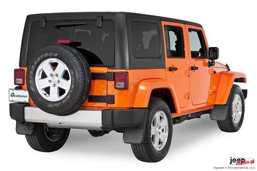 Przednie błotniki, chlapacze z logo Jeep   07-17 Jeep Wrangler JK