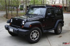 Roof Rack STEALTH : LED bar, Jeep Wrangler JK 2 doors