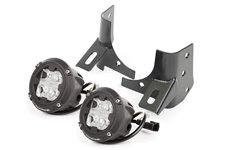 Windshield Bracket LED Kit, Round Cube : 97-06 Jeep Wrangler TJ