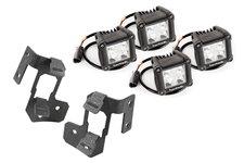 A-Pillar Light Mount Kit, Text, Dual Cube : 07-17 Jeep Wrangler JK