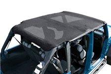 Island Top, Mesh, Black : 10-18 Jeep Wrangler JKU, 4 Door