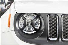 Headlight Euro Guards, Textured Black : 15-17 Jeep Renegade