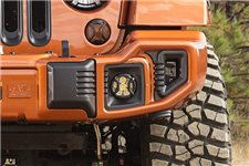 Elite Euro Guard Kit, Fog Light : 07-18 Jeep Wrangler JK/JKU