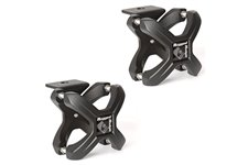 X-Clamp, Textured Black, Pair, 1.25-2.0 Inches