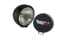 5 Inch Round HID Off Road Fog Light Kit, Black Steel Housing