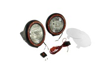 7 Inch Round HID Off Road Light Kit, Black Composite Housing, Pair