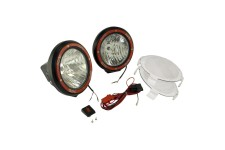 5 Inch Round HID Off Road Light Kit, Black Composite Housing, Pair