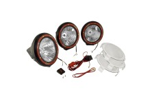 5 Inch Round HID Off Road Light Kit, Black Composite Housing, Set of 3