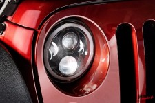 LED headlight, model RING : EU, RHT, DRL, turnsignal, 7 inches, pair