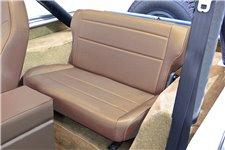 Fold and Tumble Rear Seat, Tan : 76-95 Jeep CJ/Wrangler YJ