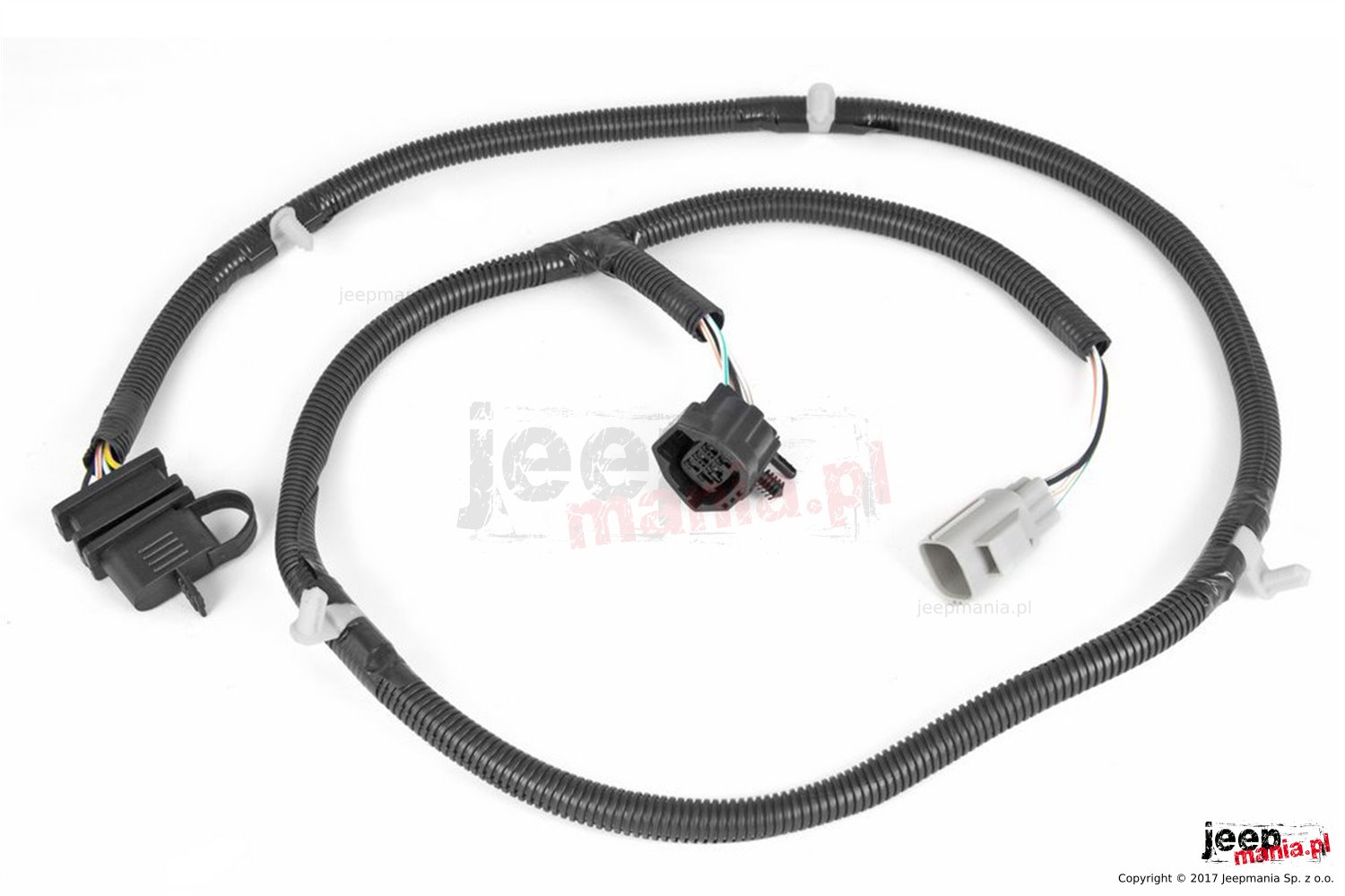 trailer wiring harness : 07-17 jeep wrangler jk