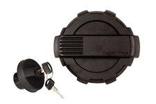 Elite Fuel Door & Cap Kit, Locking, Black : 07-17 Jeep Wrangler JK