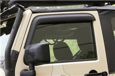 Window Visors, Matte Black, 2-Door : 07-17 Jeep Wrangler JK