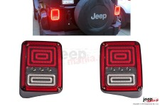 LED Taillights, model SPIRAL, EU : Jeep Wrangler JK 2007+