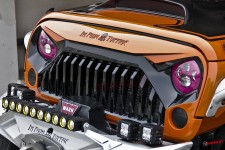 Sportowy Grill, model FURY, logo I'm From Topfire : Jeep Wrangler JK 2007+