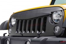 Angry Bird Sport front hood grille, carbon fiber style finish, 07-17 Jeep Wrangler JK