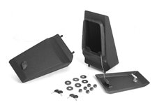 XHD Bumper Storage Ends, Textured Black : 76-06 Jeep CJ/Wrangler YJ/TJ