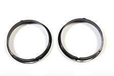 Black Headlight Bezels : 97-06 Jeep Wrangler TJ