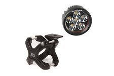 X-Clamp and Round LED Light Kit, Small, Black, 1 Piece