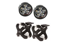 X-Clamp and Round LED Light Kit, Small, Black, 2 Pieces
