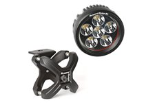 X-Clamp and Round LED Light Kit, Small, Textured Black, 1 Piece