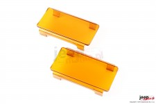 6 Inch LED Light Cover, Pair, Amber
