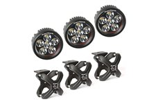 X-Clamp and Round LED Light Kit, Large, Textured Black, 3 Pieces