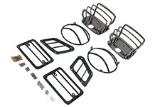 Euro Guard Kit, Black Chrome : 97-06 Jeep Wrangler TJ